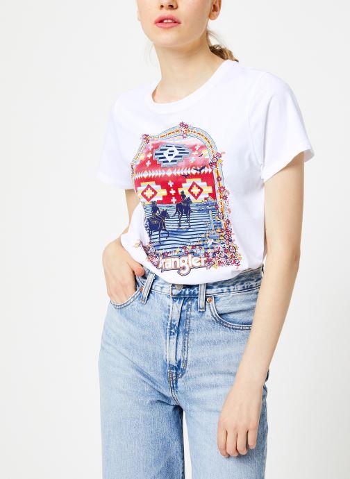Vêtements Wrangler Round T Blanc vue détail/paire
