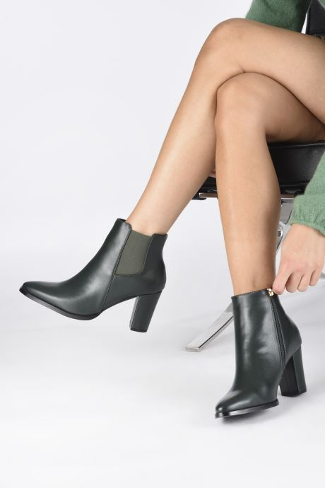 Ankle boots I Love Shoes CADENCE Green view from underneath / model view