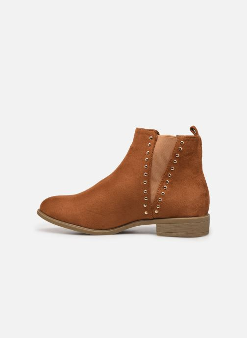 Ankle boots I Love Shoes CASEY Brown front view