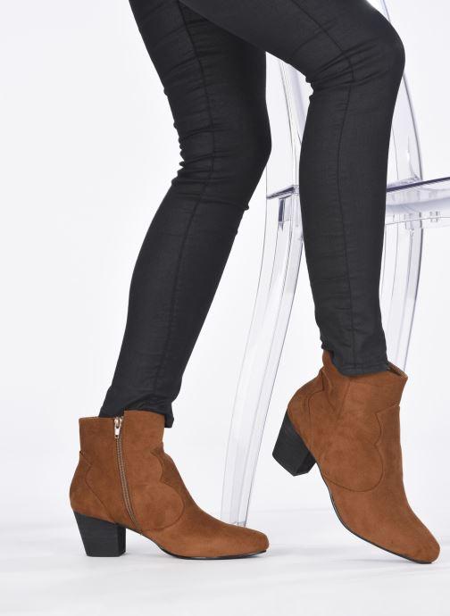 Stiefeletten & Boots I Love Shoes CAYDEN braun ansicht von unten / tasche getragen