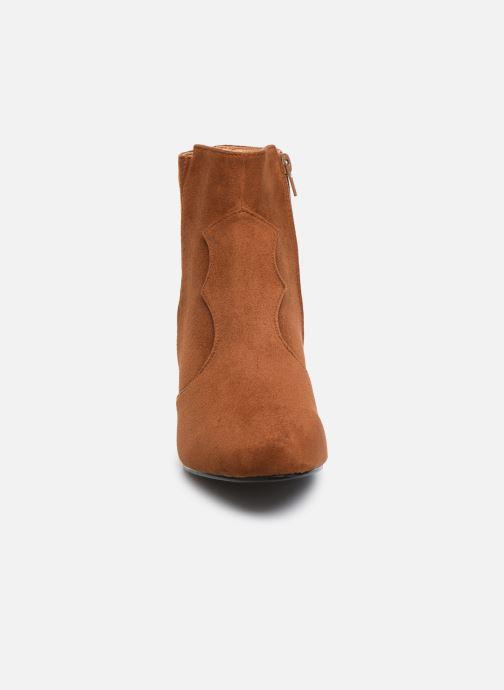Stivaletti e tronchetti I Love Shoes CAYDEN Marrone modello indossato