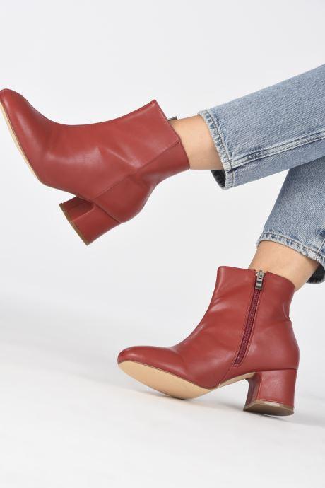 Bottines et boots I Love Shoes CARTER Rouge vue bas / vue portée sac