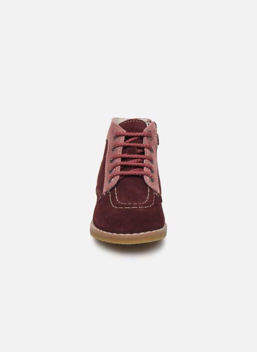 Bottines et boots Kickers Kouklegend B Violet vue portées chaussures