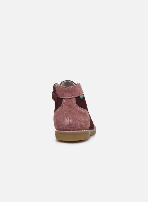 Bottines et boots Kickers Kouklegend B Violet vue droite