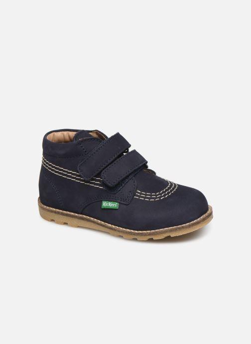 Bottines et boots Kickers Nonomatic Bleu vue détail/paire