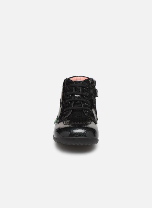 Bottines et boots Kickers Billista Zip Noir vue portées chaussures