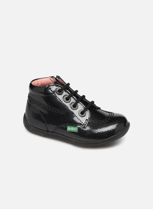 Bottines et boots Kickers Billista Zip Noir vue détail/paire