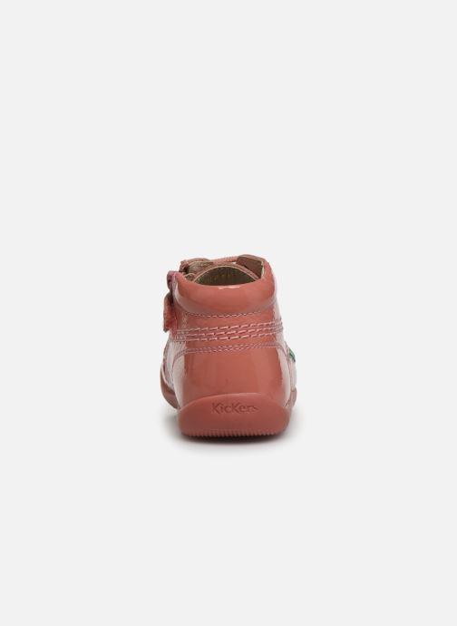 Boots en enkellaarsjes Kickers Billista Zip Roze rechts