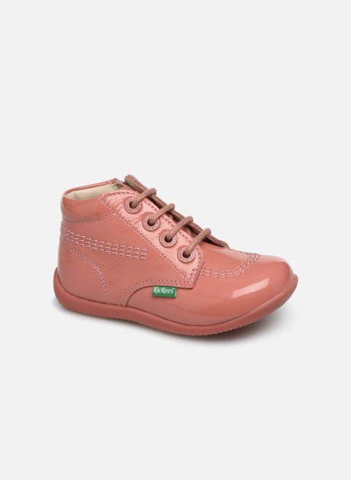Boots en enkellaarsjes Kickers Billista Zip Roze detail