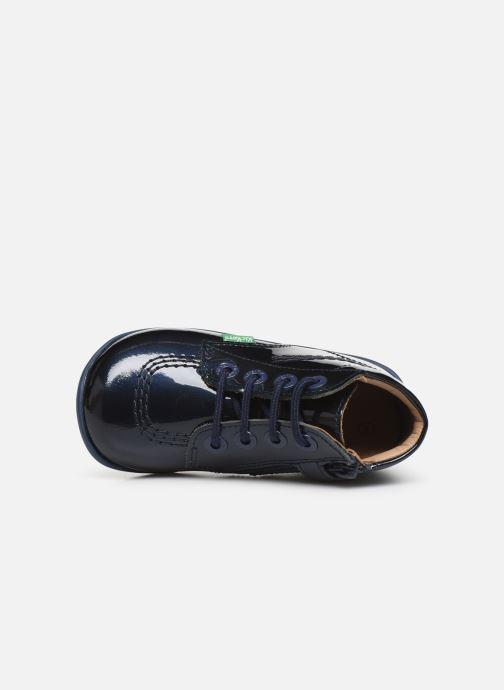 Boots en enkellaarsjes Kickers Billista Zip Blauw links