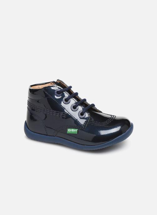 Boots en enkellaarsjes Kickers Billista Zip Blauw detail
