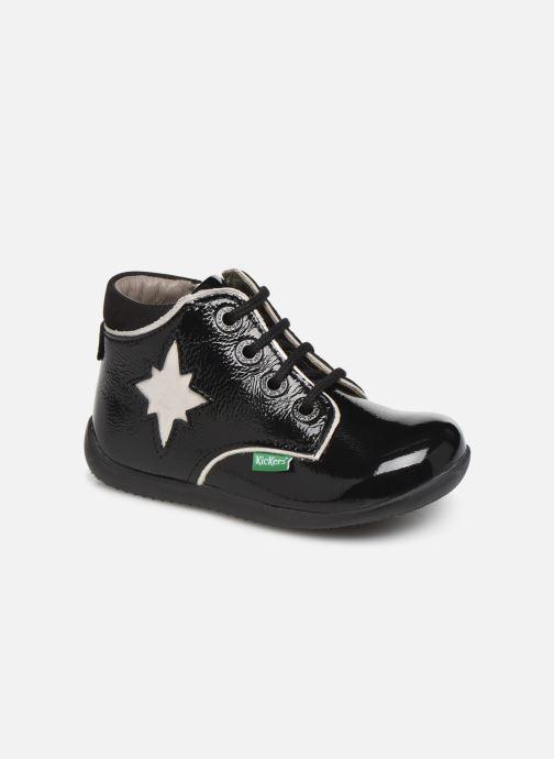 Bottines et boots Kickers Birock Noir vue détail/paire