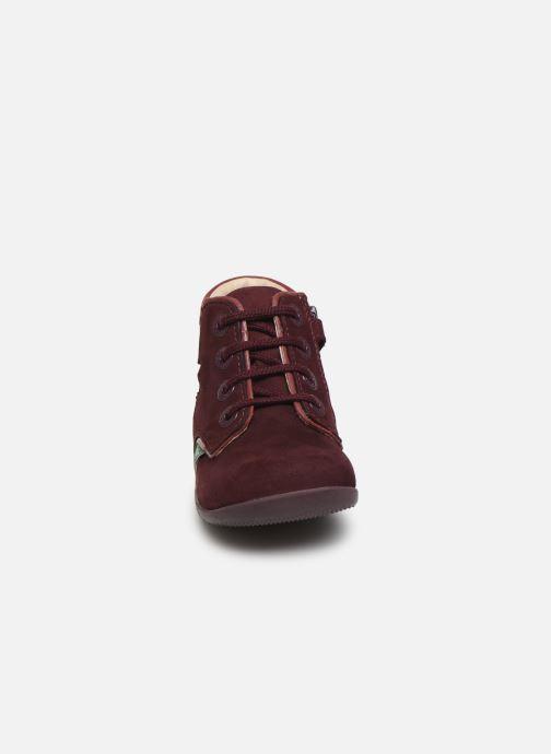 Bottines et boots Kickers Birock Violet vue portées chaussures