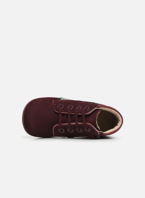 Bottines et boots Kickers Birock Violet vue gauche