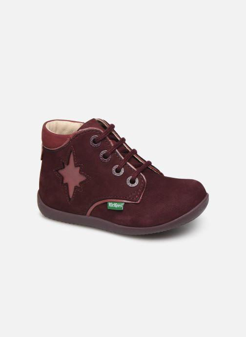 Bottines et boots Kickers Birock Violet vue détail/paire