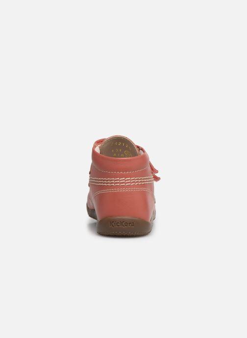 Bottines et boots Kickers Bikro Rose vue droite