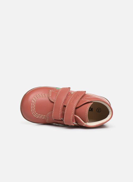 Boots en enkellaarsjes Kickers Bikro Roze links