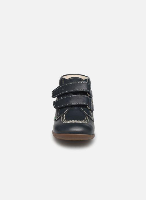 Bottines et boots Kickers Bikro Bleu vue portées chaussures
