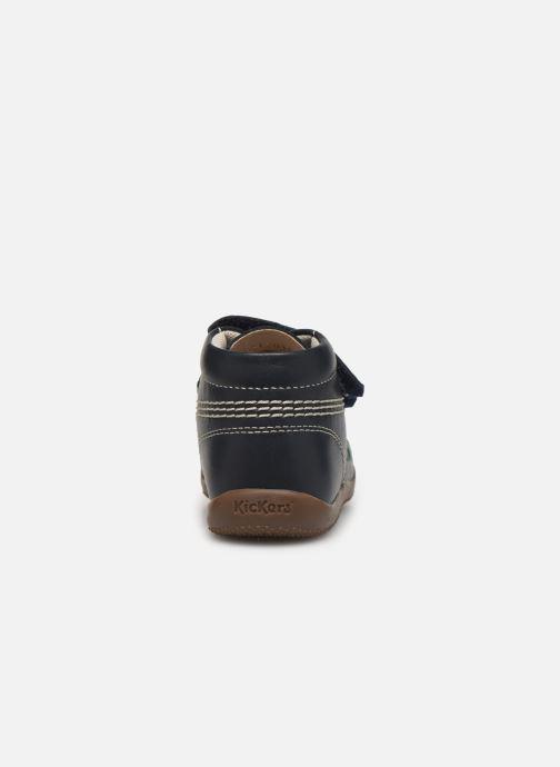 Bottines et boots Kickers Bikro Bleu vue droite