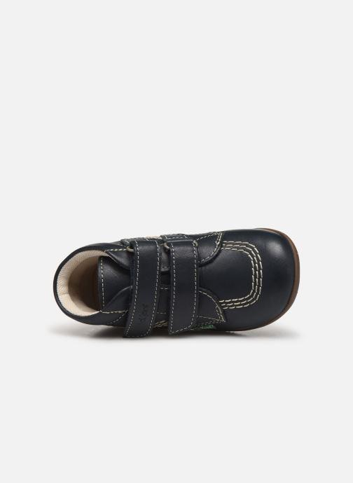 Bottines et boots Kickers Bikro Bleu vue gauche