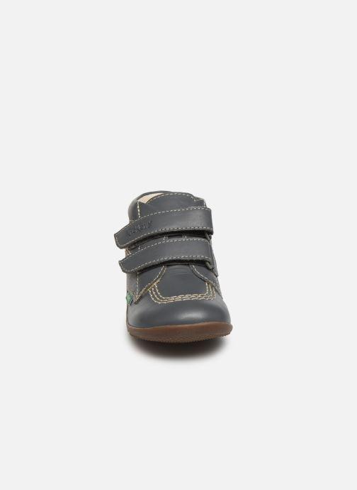 Bottines et boots Kickers Bikro Gris vue portées chaussures