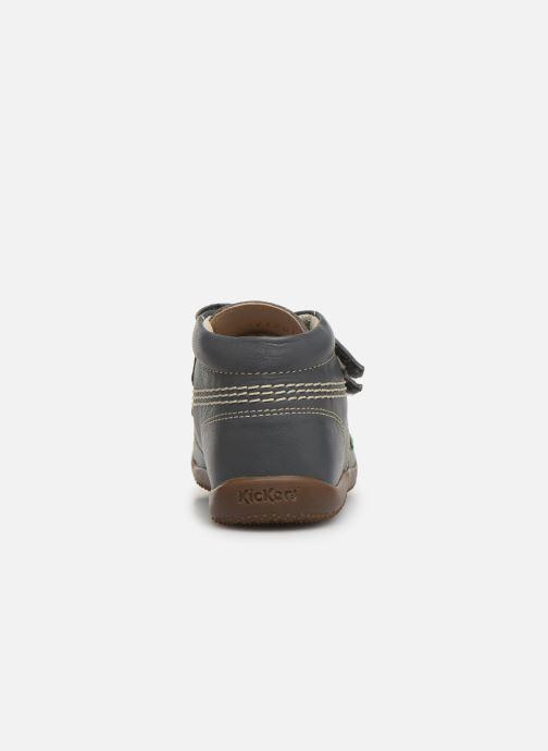 Bottines et boots Kickers Bikro Gris vue droite