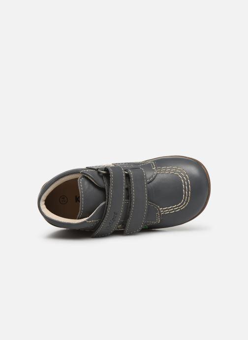 Boots en enkellaarsjes Kickers Bikro Grijs links