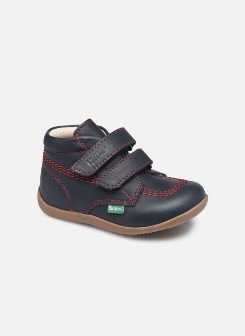 Bottines et boots Kickers Bikro Bleu vue détail/paire