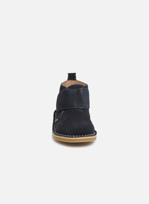 Chaussures à scratch Kickers Takono Bleu vue portées chaussures