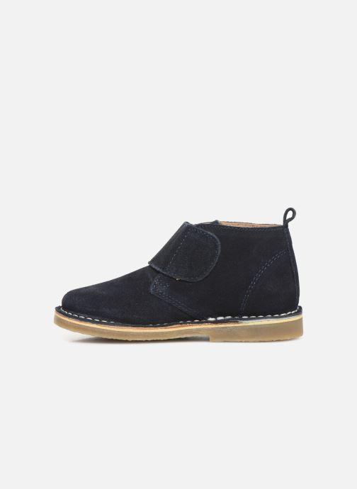 Zapatos con velcro Kickers Takono Azul vista de frente
