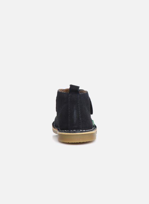 Zapatos con velcro Kickers Takono Azul vista lateral derecha