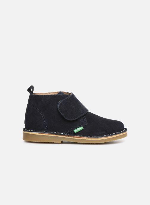 Zapatos con velcro Kickers Takono Azul vistra trasera