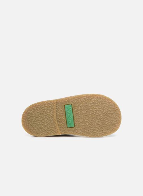 Chaussures à scratch Kickers Takono Bleu vue haut