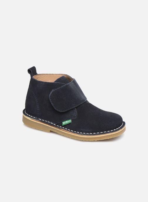 Schoenen met klitteband Kickers Takono Blauw detail