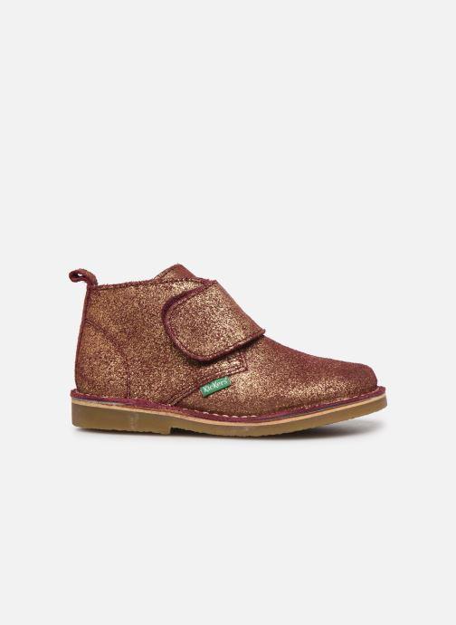 Chaussures à scratch Kickers Takono Or et bronze vue derrière