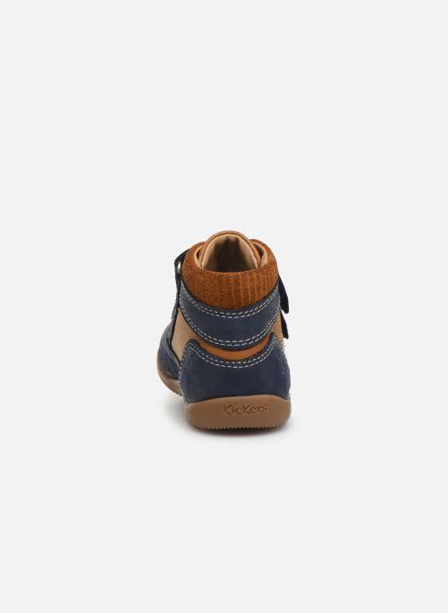 Bottines et boots Kickers Bins Bleu vue droite