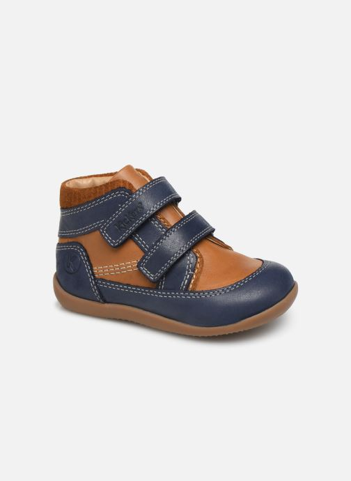 Bottines et boots Kickers Bins Bleu vue détail/paire
