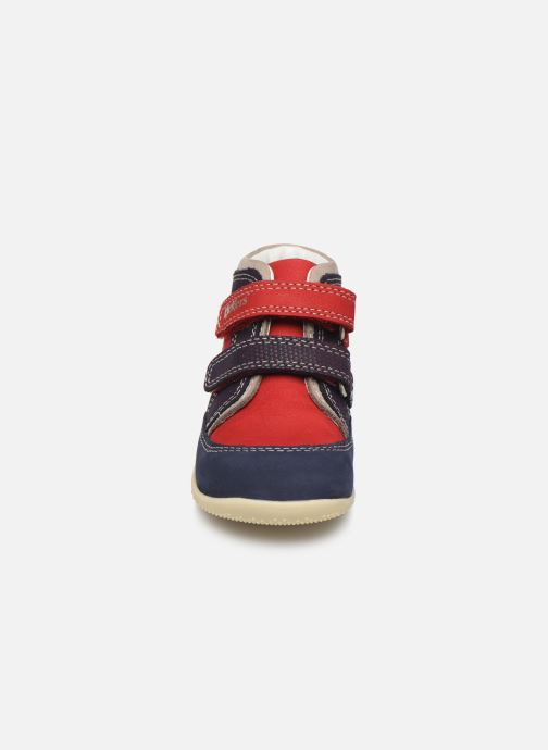 Bottines et boots Kickers Bins Rouge vue portées chaussures