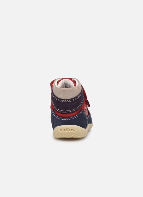 Boots en enkellaarsjes Kickers Bins Rood rechts