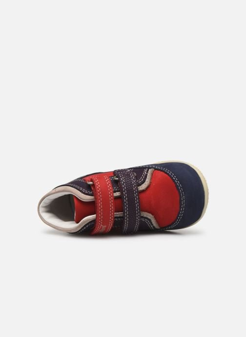 Bottines et boots Kickers Bins Rouge vue gauche