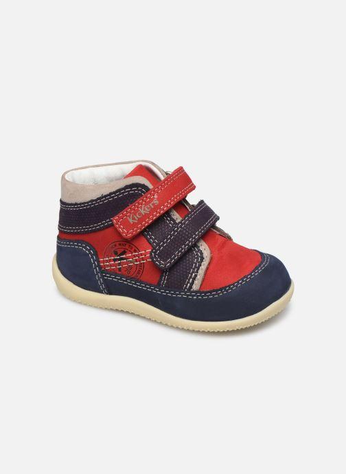 Bottines et boots Kickers Bins Rouge vue détail/paire