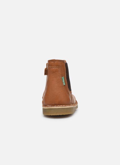 Boots en enkellaarsjes Kickers Maelio Bruin rechts