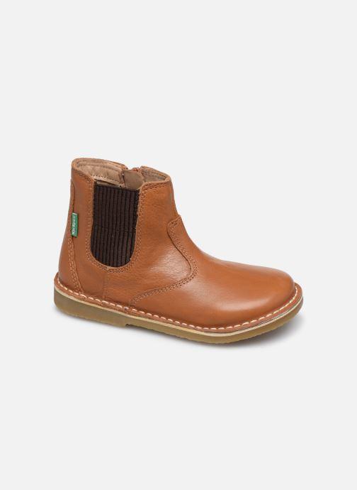 Boots en enkellaarsjes Kickers Maelio Bruin detail