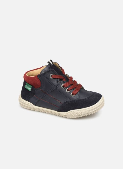 Sneakers Kickers Jad Blauw detail