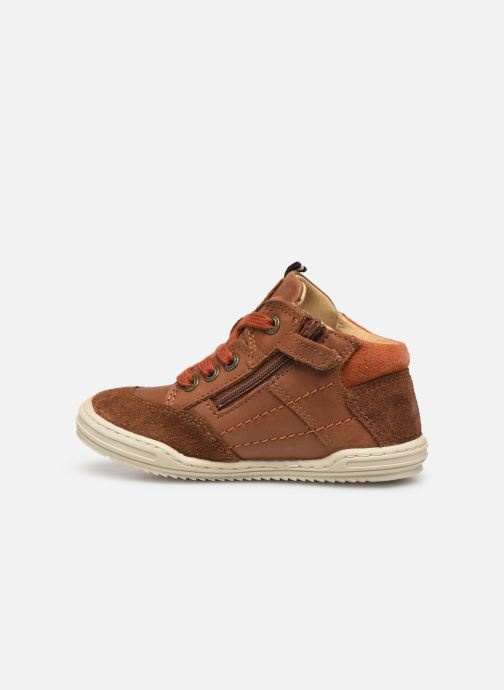Sneakers Kickers Jad Bruin voorkant