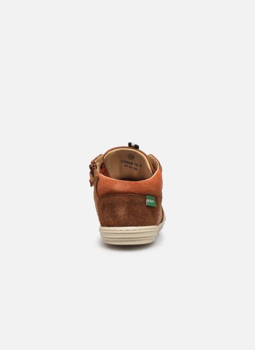 Sneakers Kickers Jad Bruin rechts