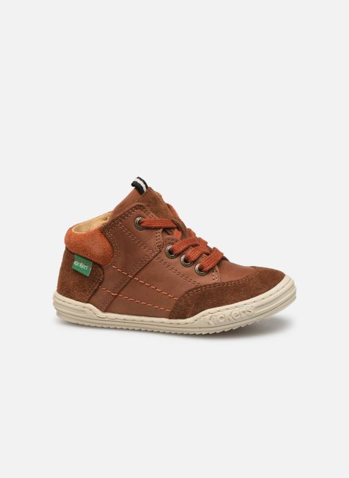 Sneakers Kickers Jad Bruin achterkant