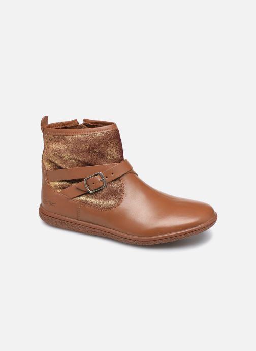 Bottines et boots Kickers Viktor Marron vue détail/paire