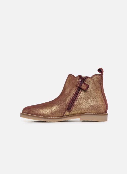 Bottines et boots Kickers Tyla Or et bronze vue face
