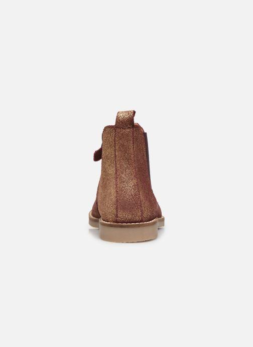 Bottines et boots Kickers Tyla Or et bronze vue droite